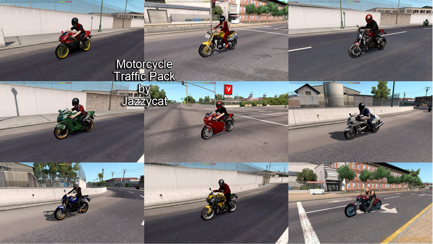 Motorcycle Traffic Pack v1.0 by Jazzycat