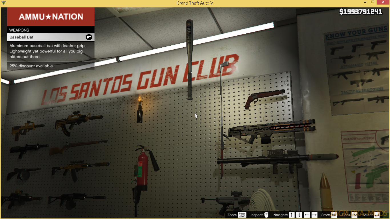 Buy More Weapons v1.6 for GTA 5