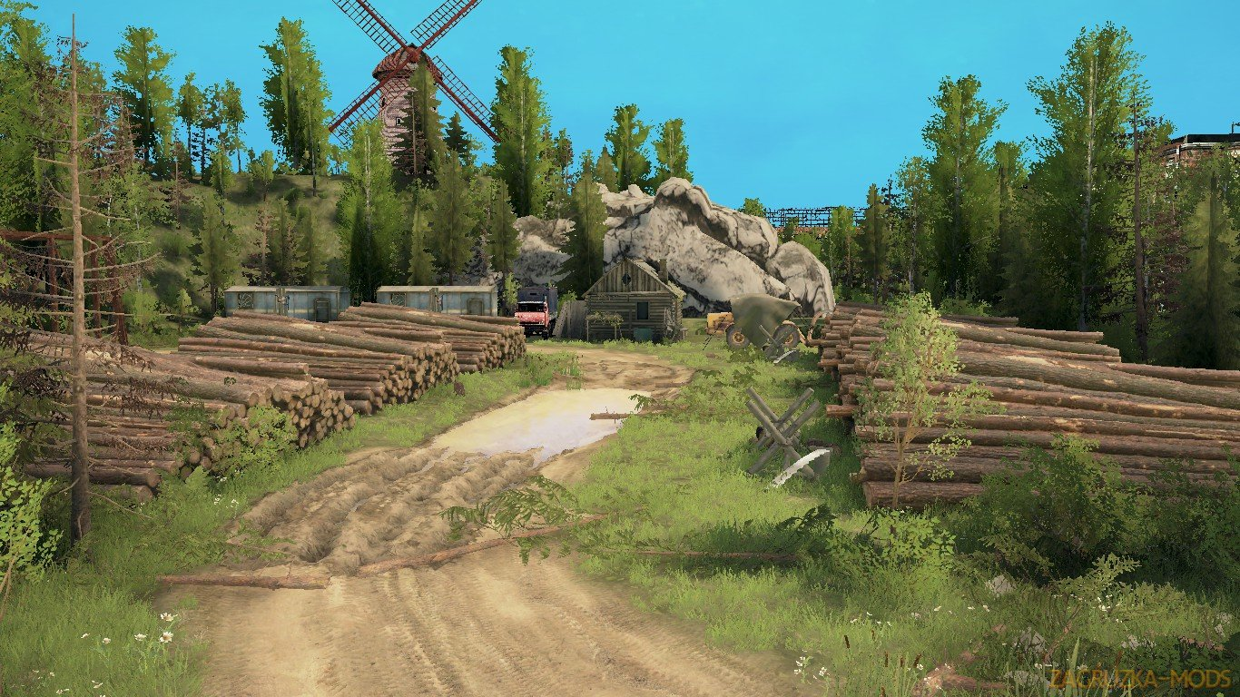 Work Weekdays Map v1.2 (v21.05.18) for SpinTires: MudRunner
