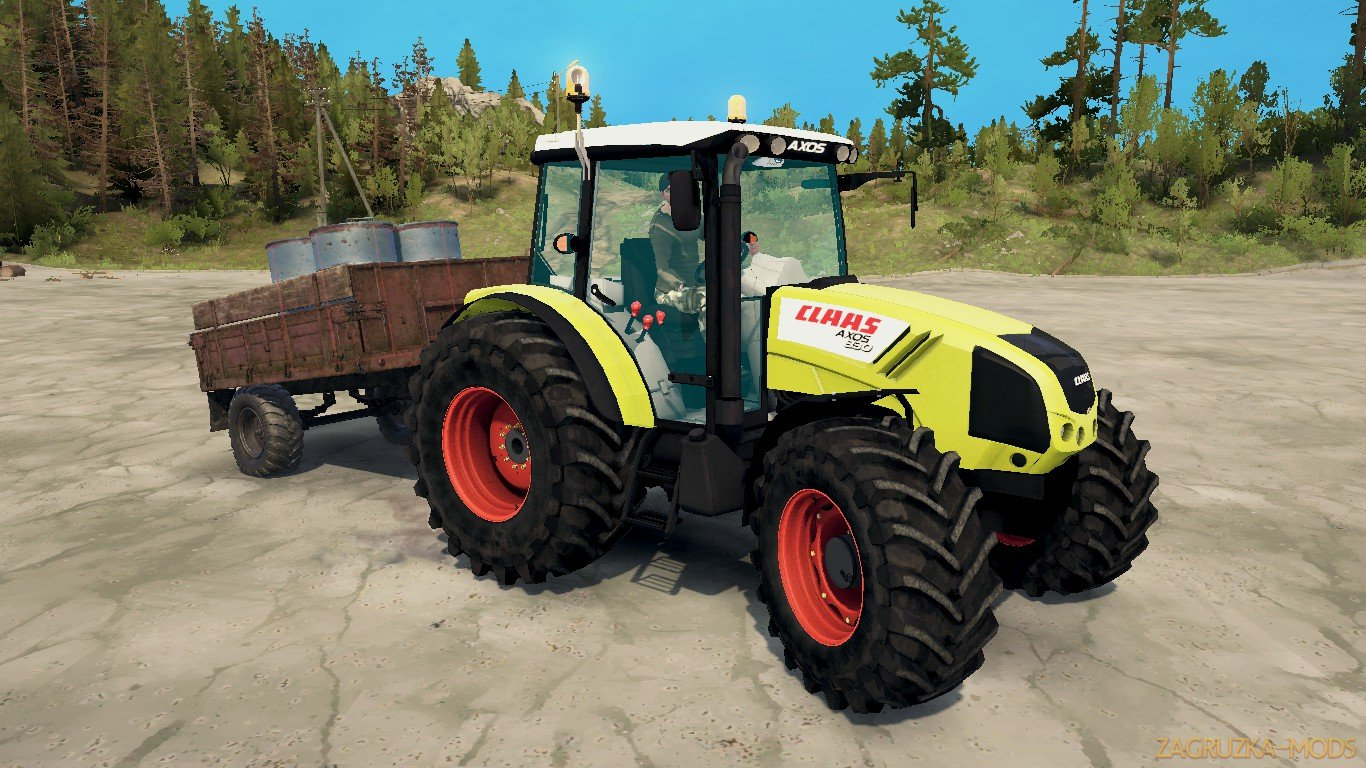 Tractor Claas Axos 330 v1.0 (v21.05.18) for SpinTires: MudRunner