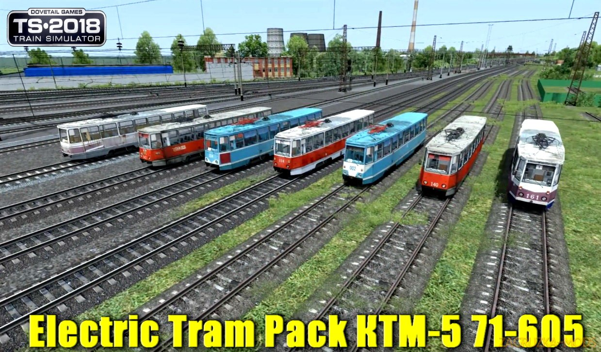 Electric Tram Pack КТМ-5 71-605 v1.0 for TS 2019