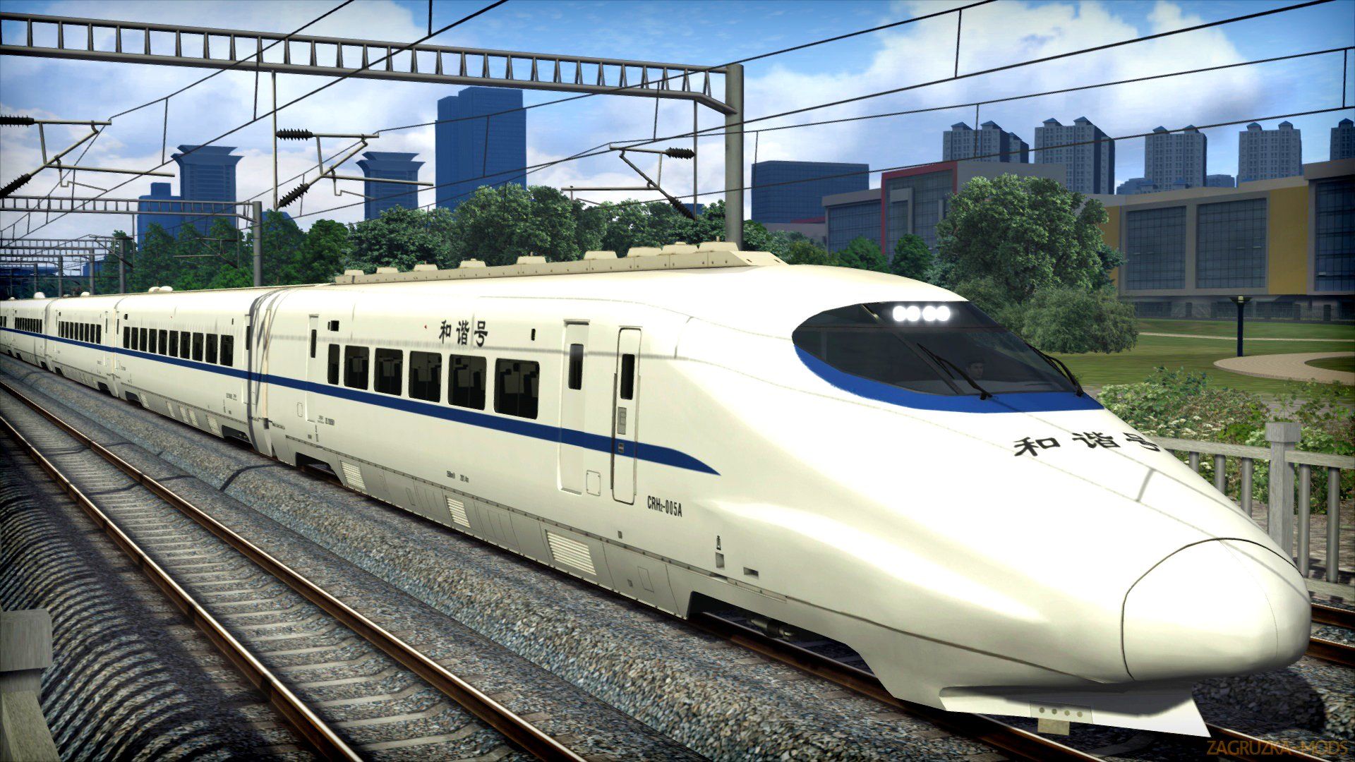Chinese CRH2A High Speed EMU Train v1.0 for TS 2018
