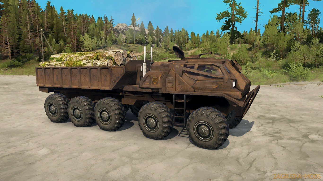 EDF Supply Truck (SCI-FI) v1.0 (v21.05.18) for SpinTires: MudRunner