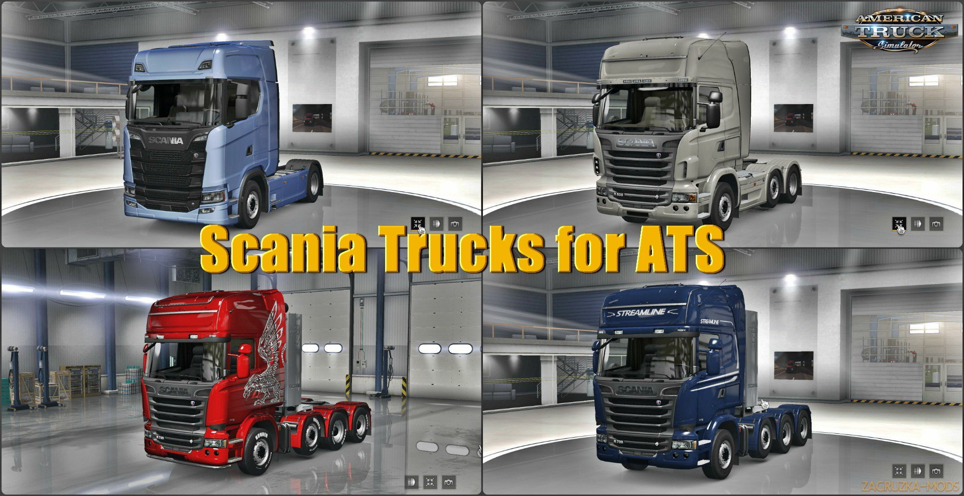 Scania Trucks Mod for ATS v1.7 by Frkn64 (1.31.x) for ATS