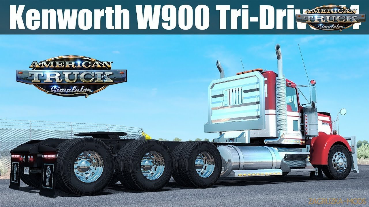 Kenworth W900 Tri-Drive (Update + Fix) v4.0 by Bu5ted (1.31.x) for ATS