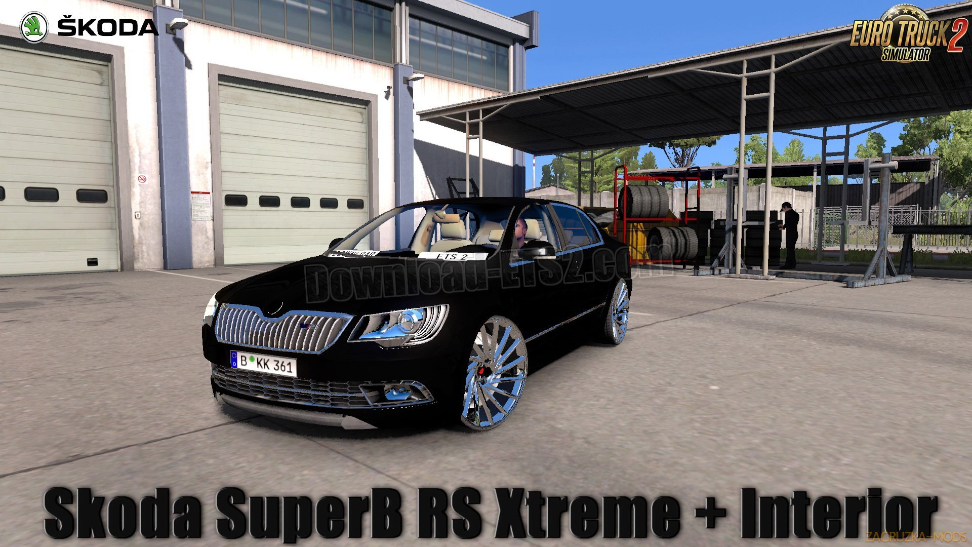Skoda SuperB RS Xtreme + Interior v1.0 (1.31.x) for ETS 2