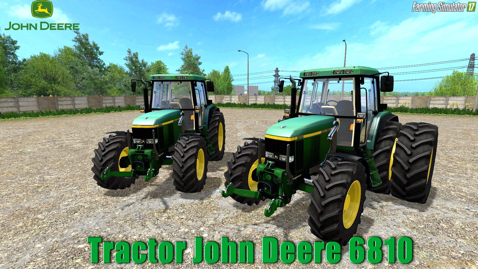 John Deere 6810 v1.0 by MB3D Modelling for FS 17