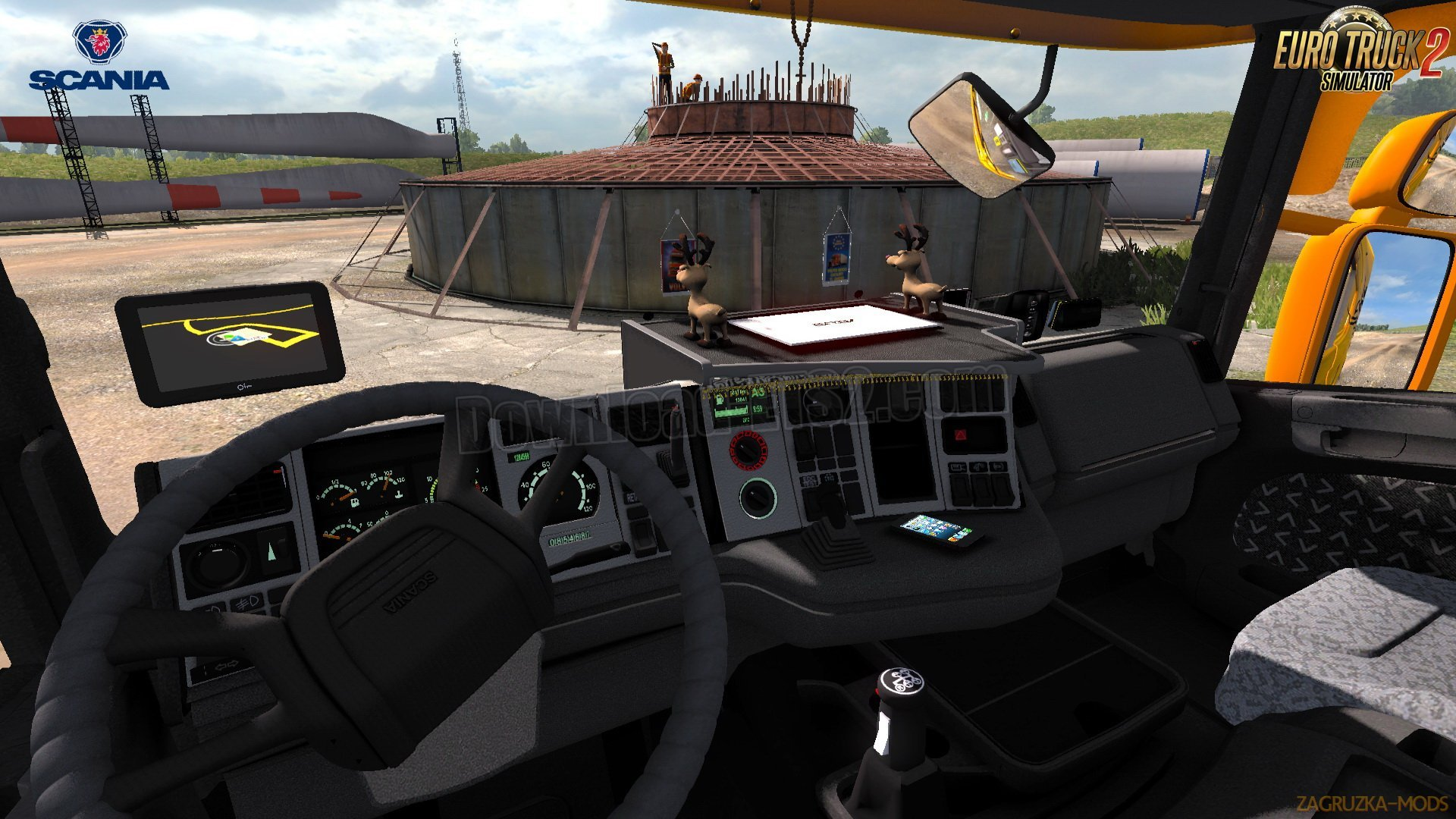Scania 4 Series + Interior v1.0 by Kirill Mladshev (1.31.x) for ETS 2