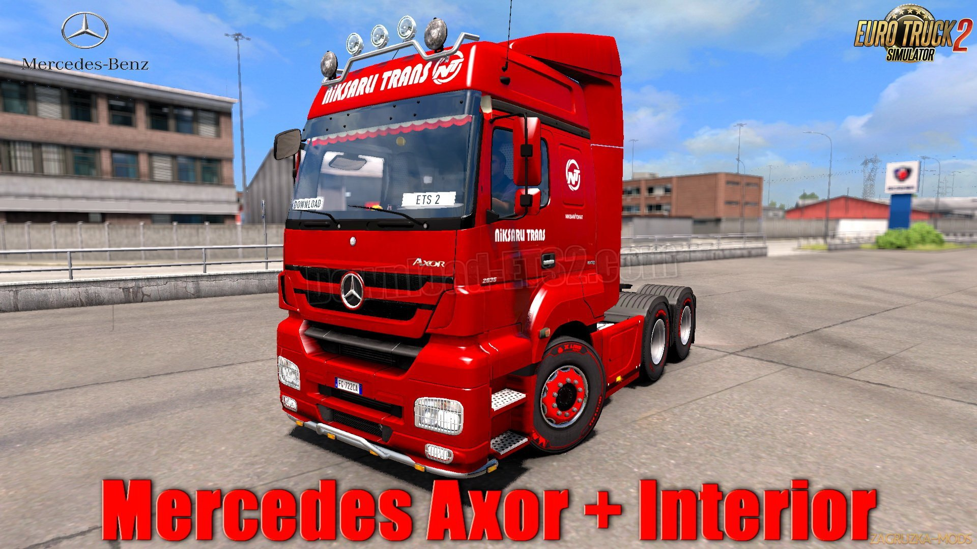 Mercedes Axor + Interior v1.0 (1.31.x) for ETS 2