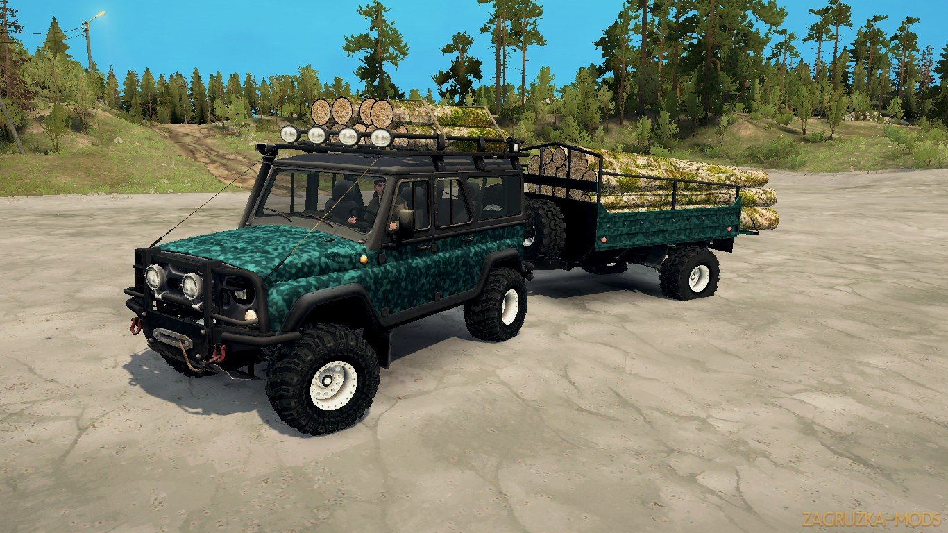 UAZ- 3153 v1.0 (v21.05.18) for SpinTires: MudRunner