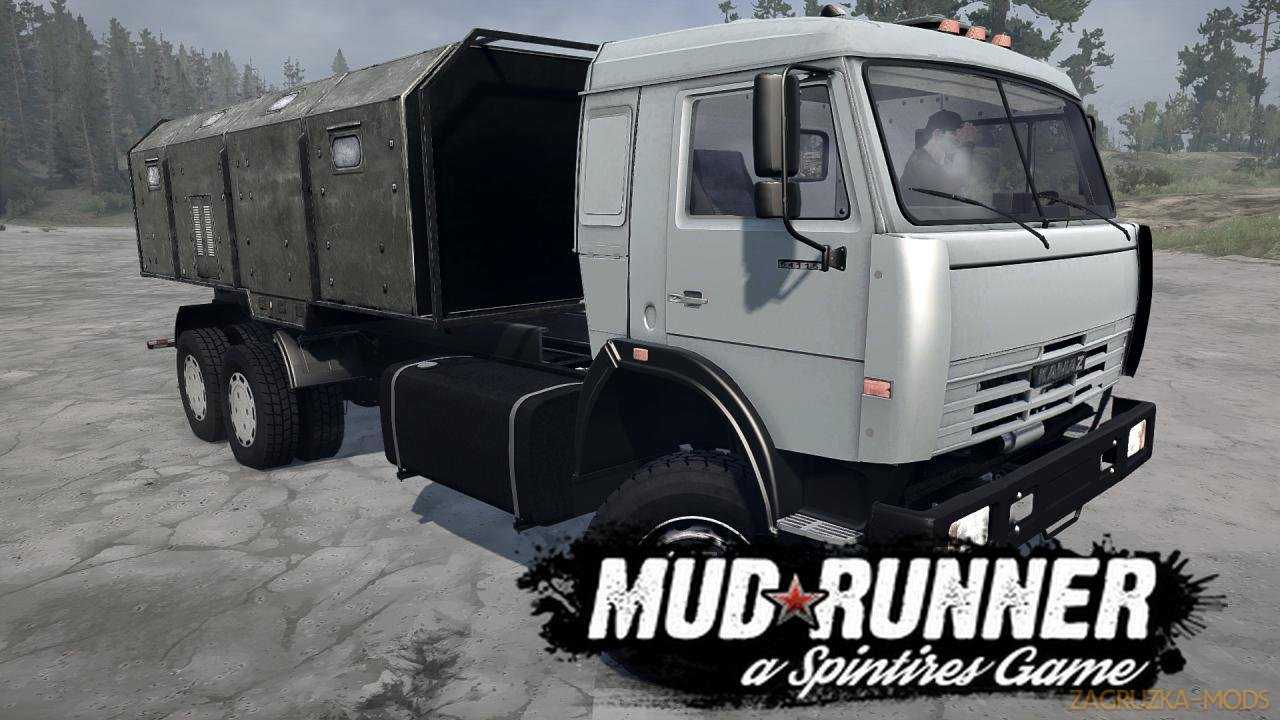 KamAZ-54115 Long Version v1.0 (v21.05.18) for SpinTires: MudRunner
