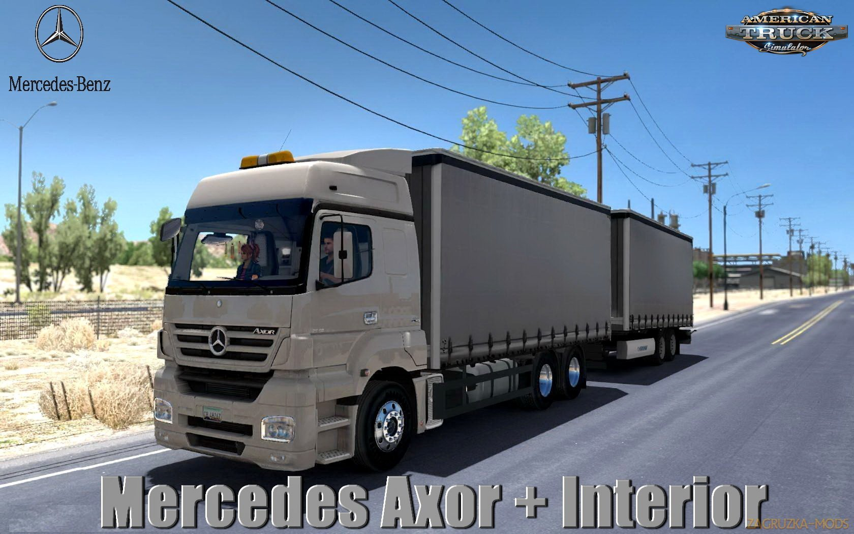 Mercedes Axor + Interior v1.0 (1.32.x) for ATS