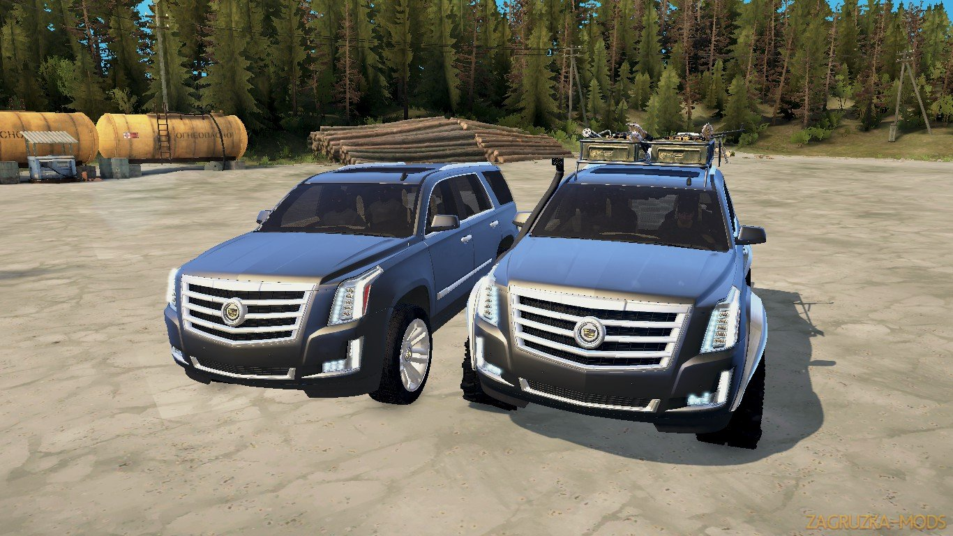 Cadillac Escalade 2016 v1.0 (v21.05.18) for SpinTires: MudRunner