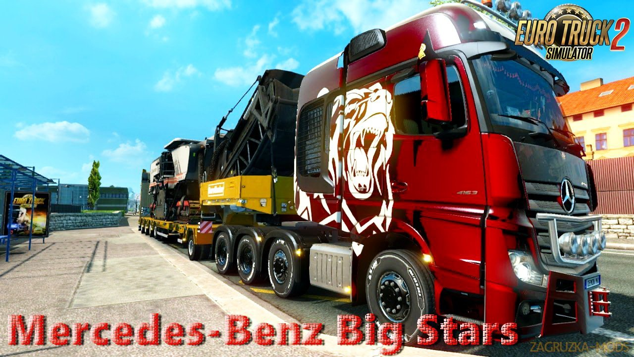 Mercedes-Benz Big Stars - Actros/Arocs SLT v1.5.3.3 (1.32.x) for ETS 2