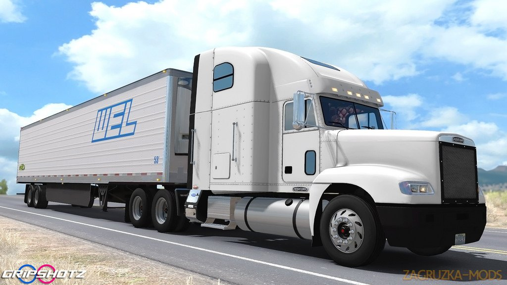 Freightliner FLD + Interior v2.0 by odd_fellow (1.32.x) for ATS