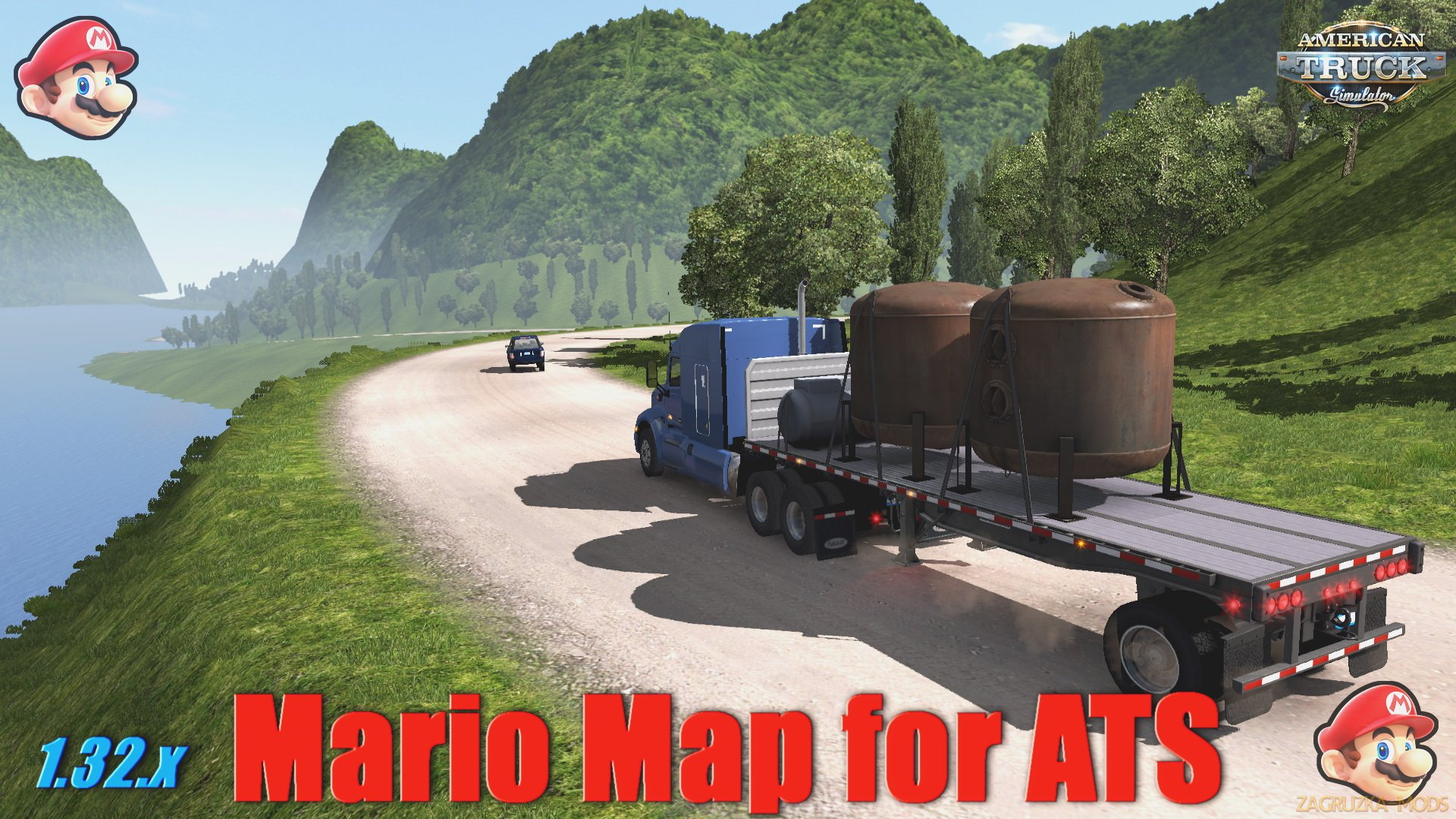 Mario Map v12.7 for ATS-New update (1.32.x )