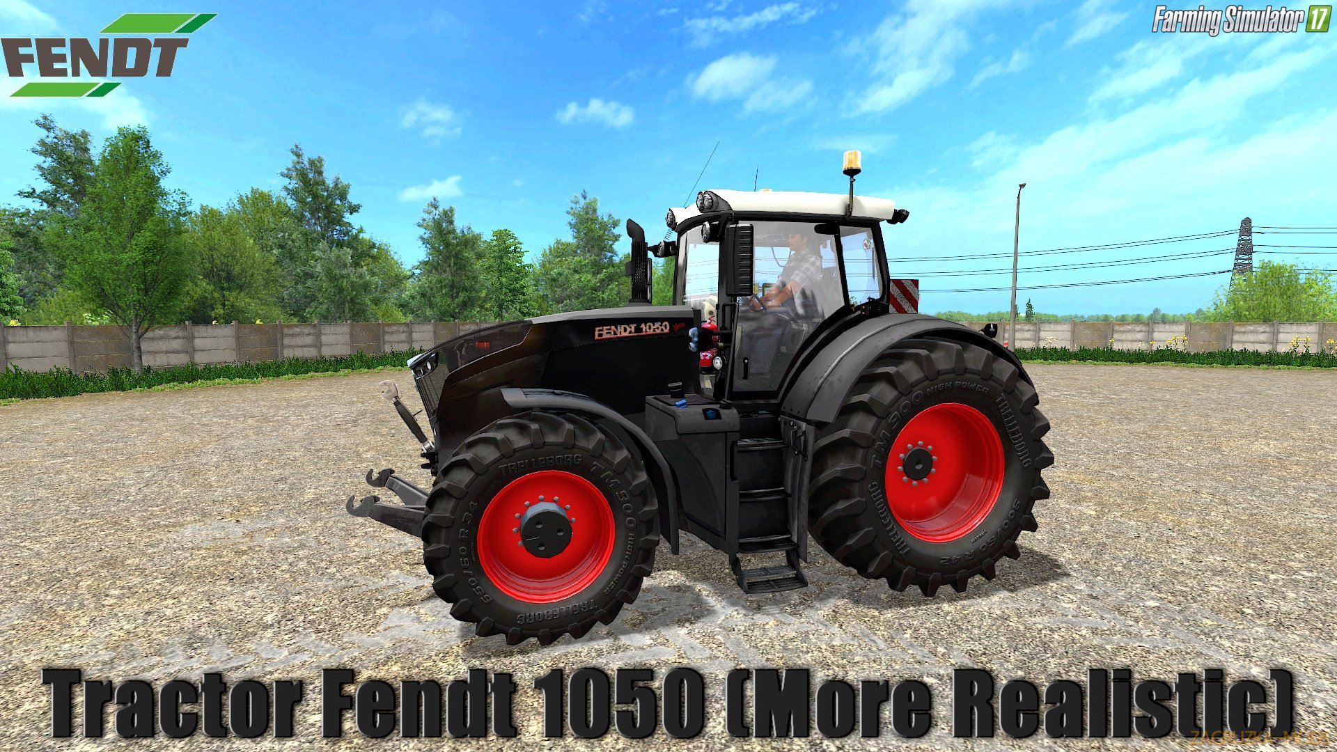 Fendt 1050 (More Realistic) v1.5 for FS 17