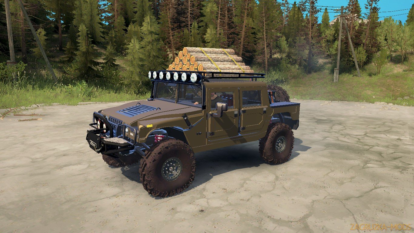 Hummer H1 v1.0 (v21.05.18) for SpinTires: MudRunner