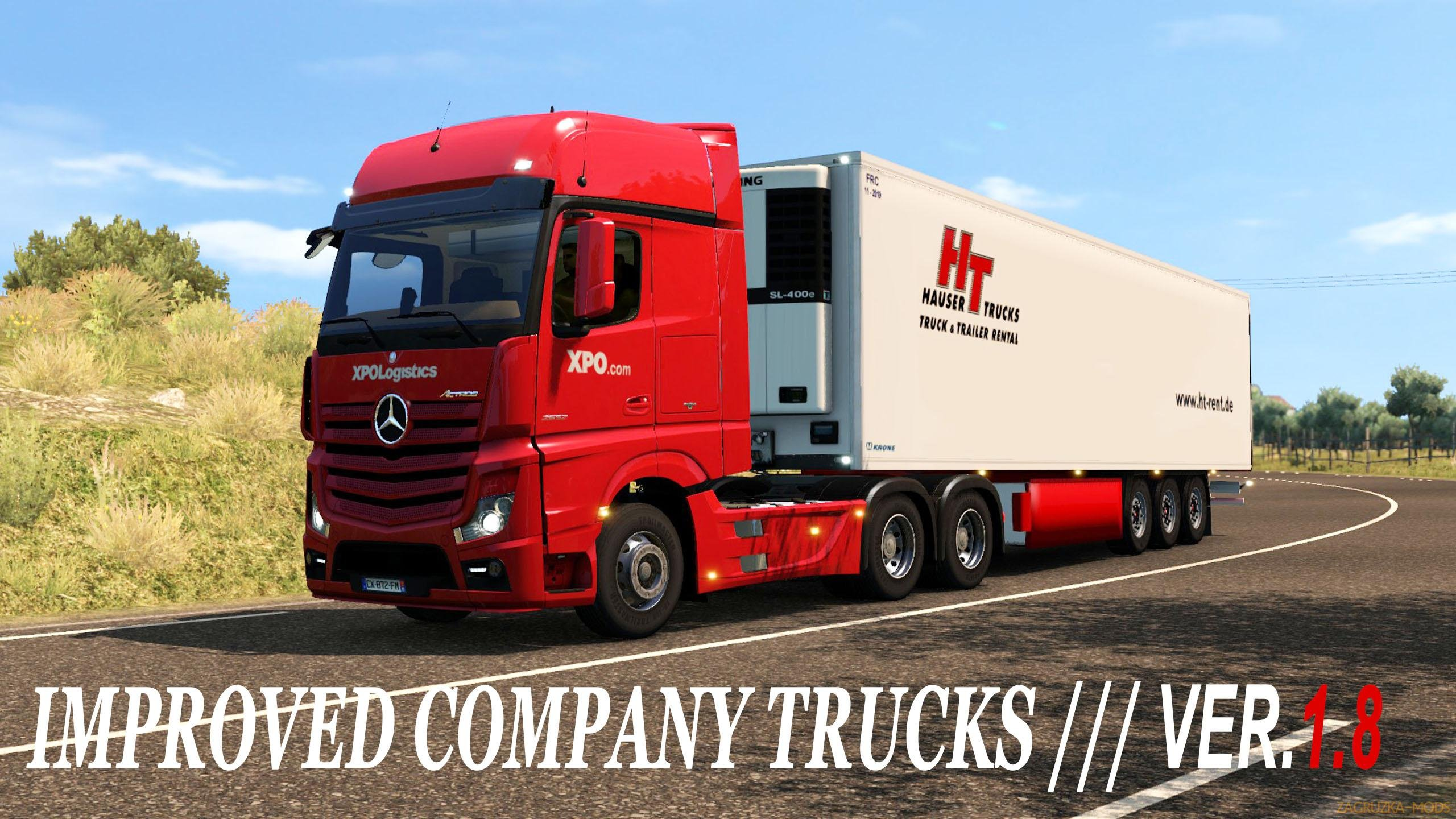Improved company trucks v2.1 (1.32.x) for ETS2