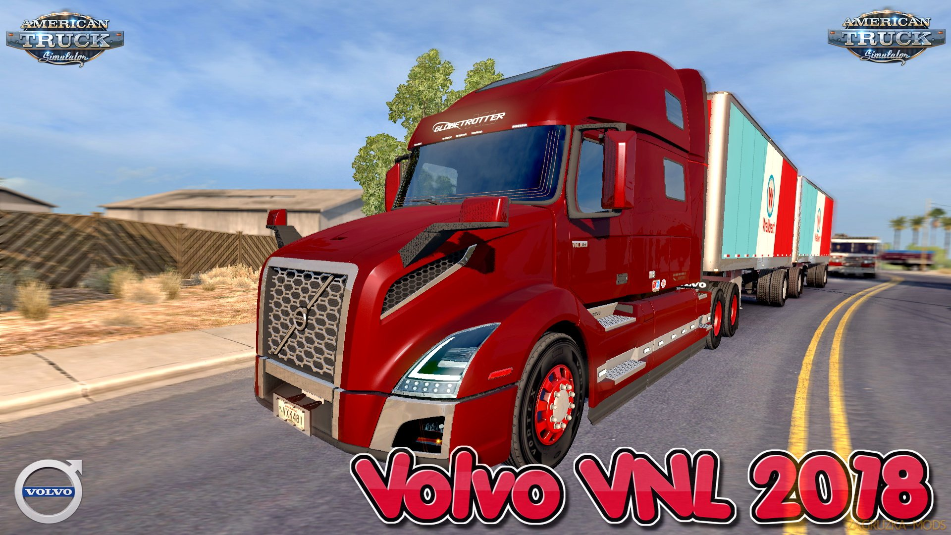 Volvo VNL 2018 + Interior v2.20 Edit by galimim (1.35.x) for ATS