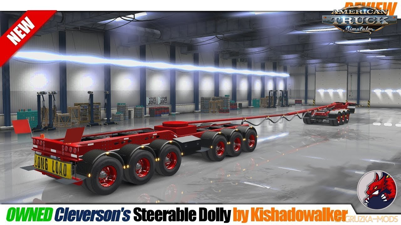 Steerable Dolly Trailer v1.0 for ATS (1.32.x) for ATS