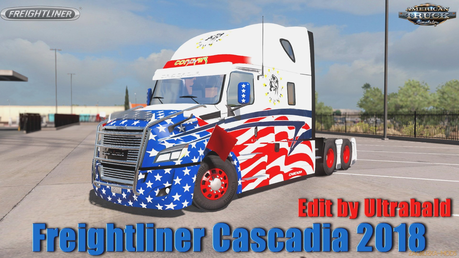 Freightliner Cascadia 2018 v1.6 Ultrabald Edition (1.34.x) for ATS