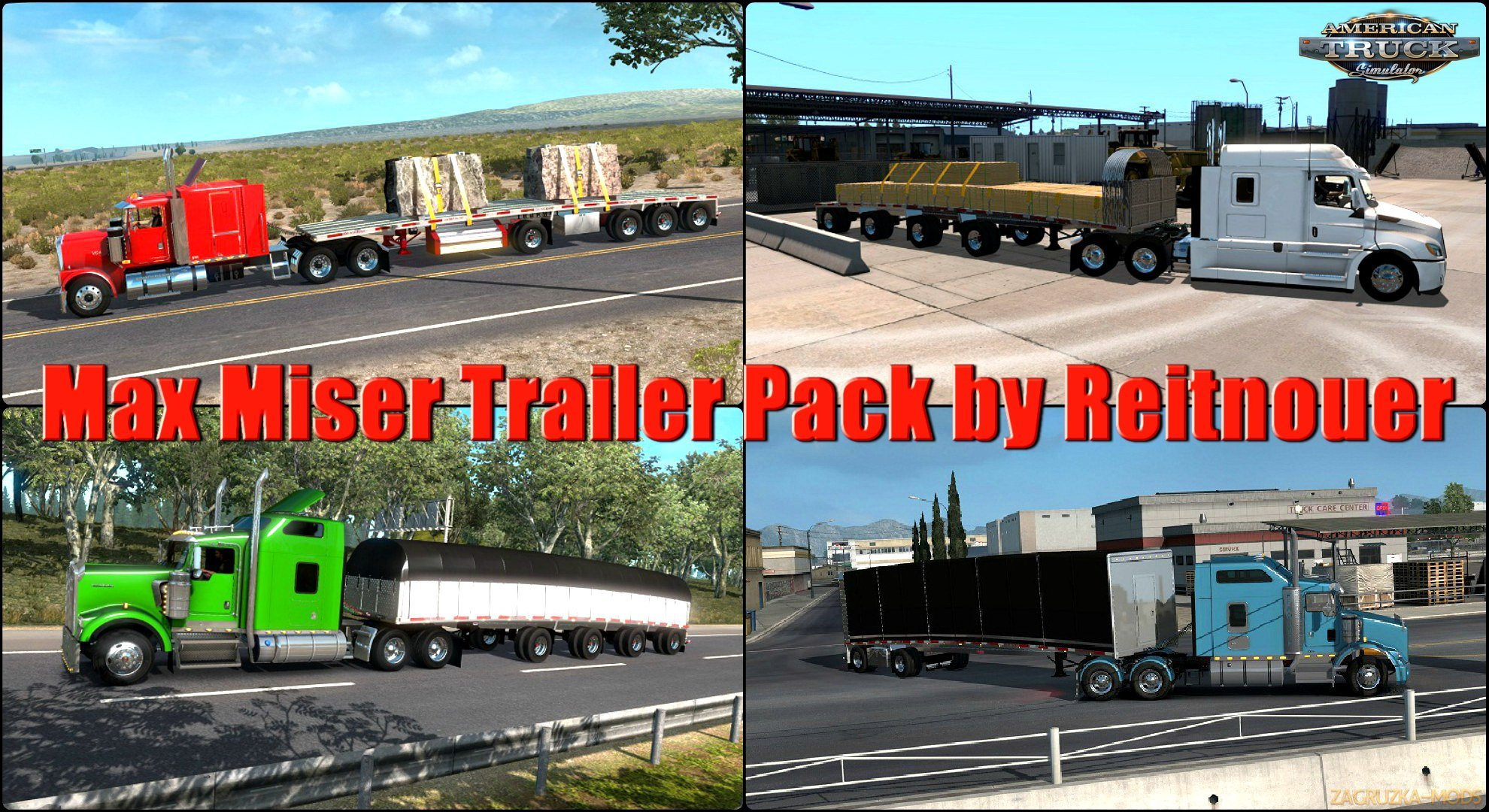 Max Miser Trailer Pack v1.0 by Reitnouer (1.32.x) for ATS