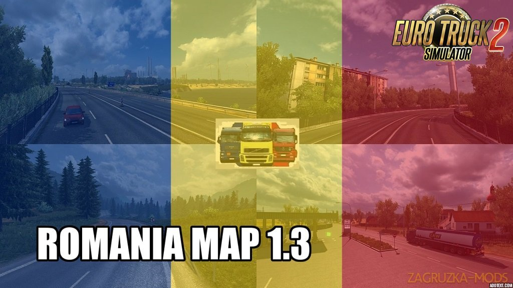 ROMANIA Map v1.3 by MIRFI (1.32.x) for ETS2