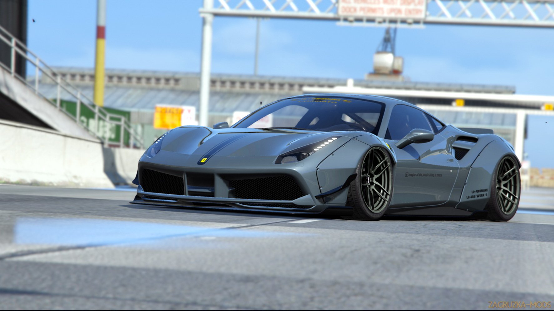 Ferrari 488 GTB 2015 LB Works v1.0 for GTA 5
