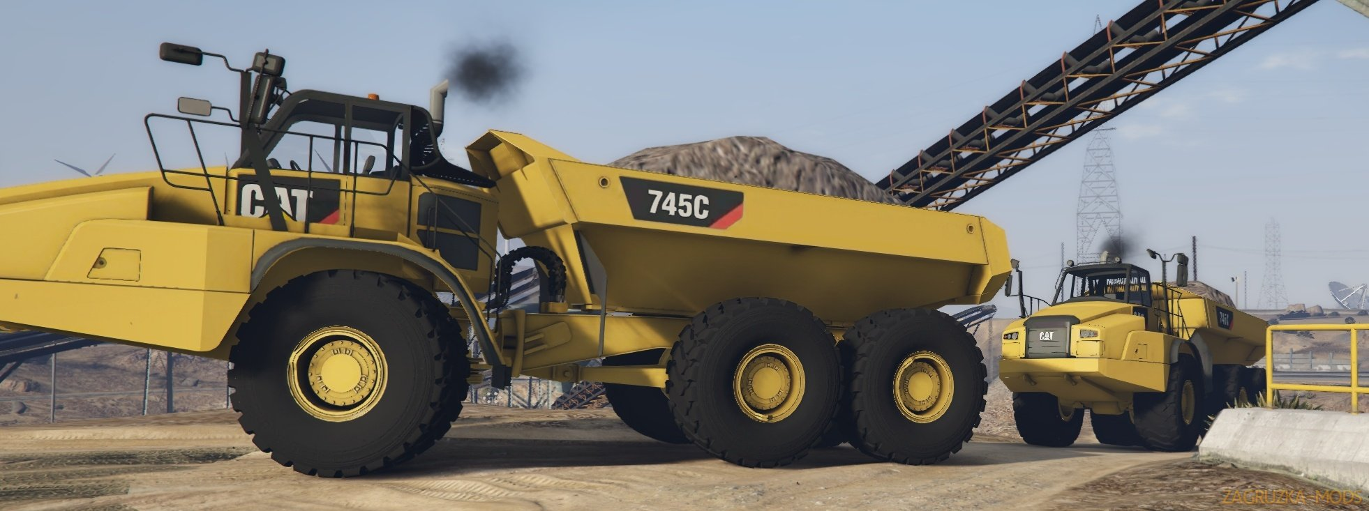 Caterpillar 745C Offroad Dump Truck 2018 v1.1 for GTA 5