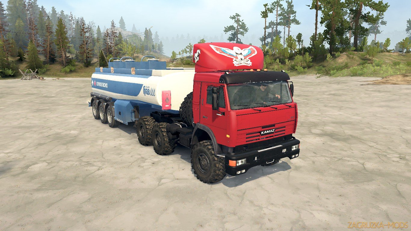 KamAZ 54115 Turbo v1.2 (v18.10.18) for SpinTires: MudRunner