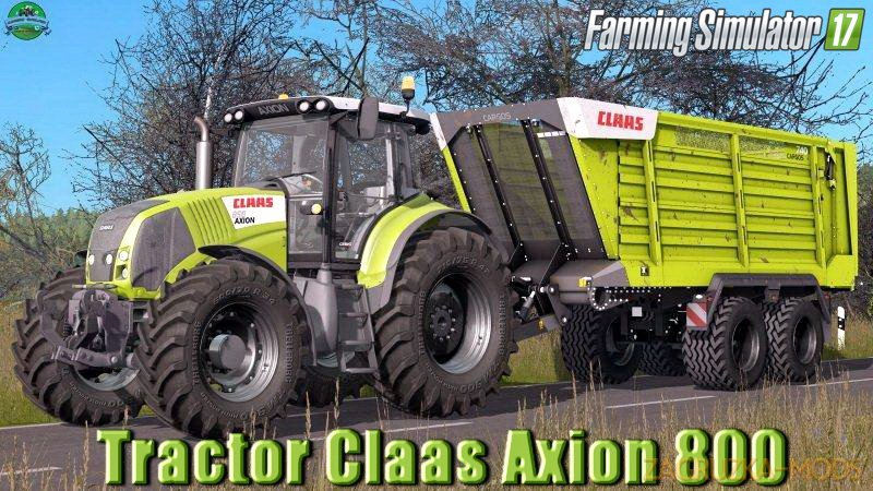 Claas Axion 800 v1.1 for FS17