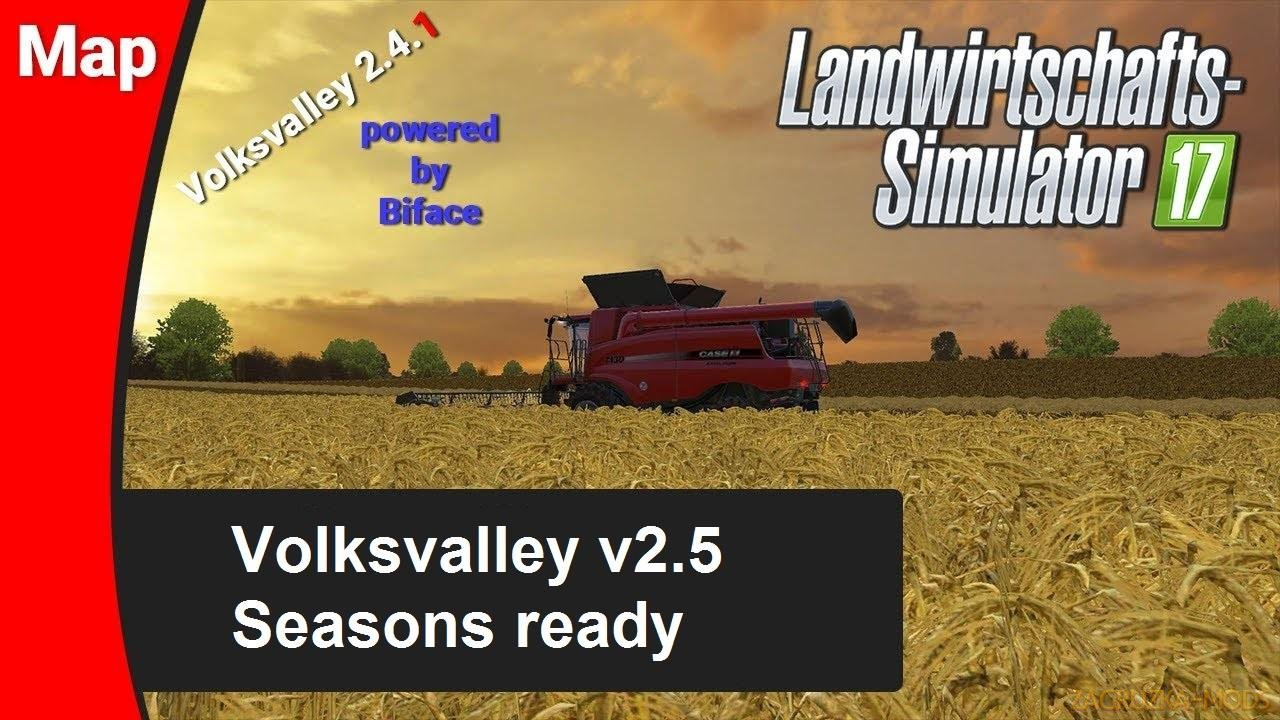 Volksvalley Map v2.5 (Seasons ready) for FS17