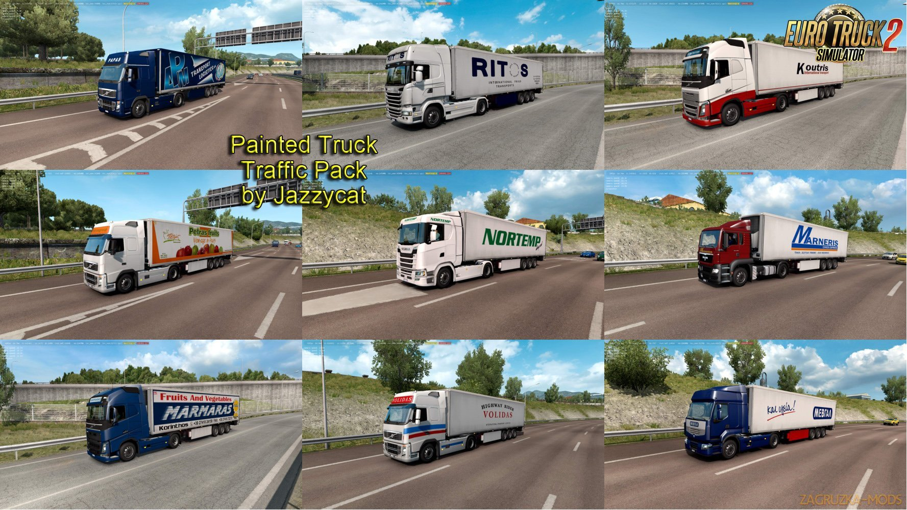 Painted Truck Traffic Pack v6.5 by Jazzycat