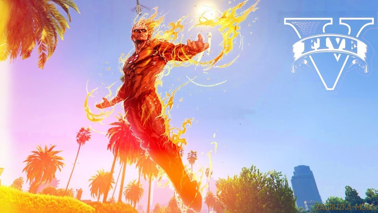 Human Torch Mod v1.9 for GTA 5