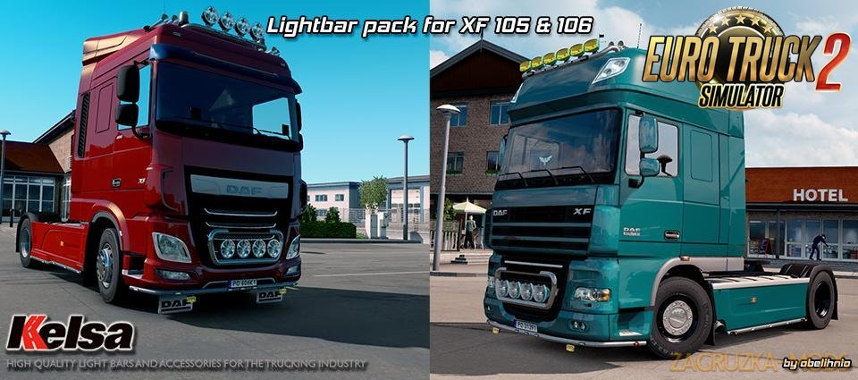 Kelsa Lightbars for DAF XF 105 & 106 v1.83 [1.32.x]