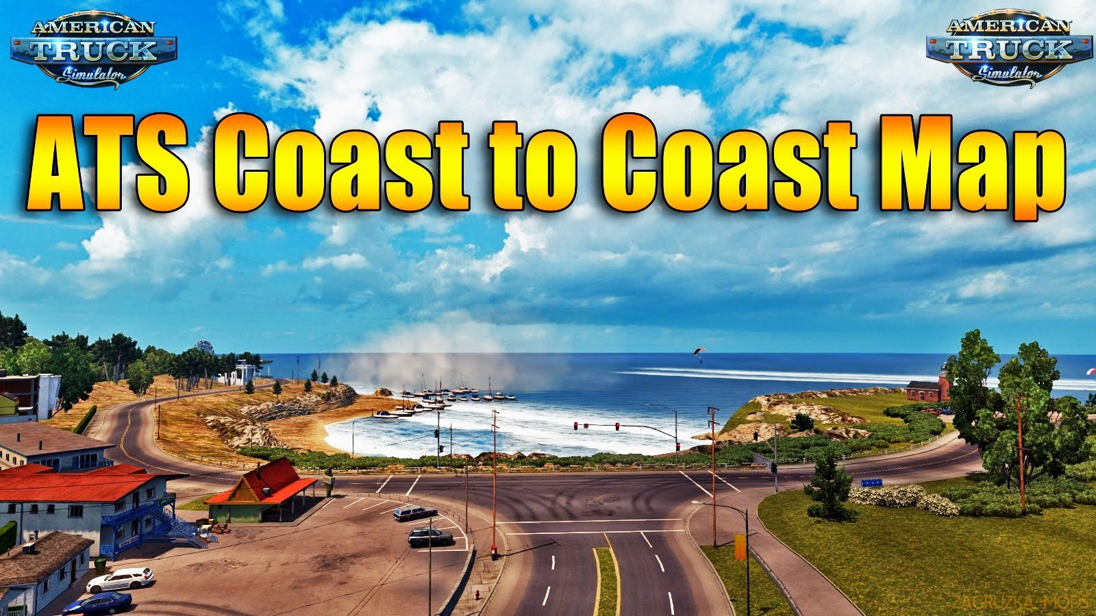 Coast to Coast Map v2.7 by Mantrid (1.34.x) for ATS