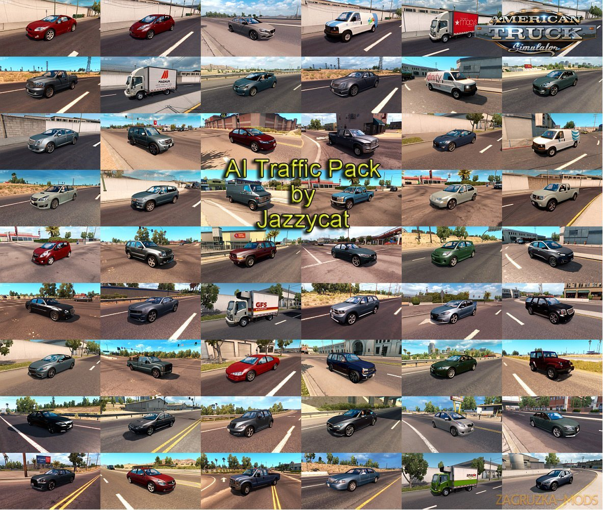 AI Traffic Pack v5.6 by Jazzycat (1.33.x) for ATS