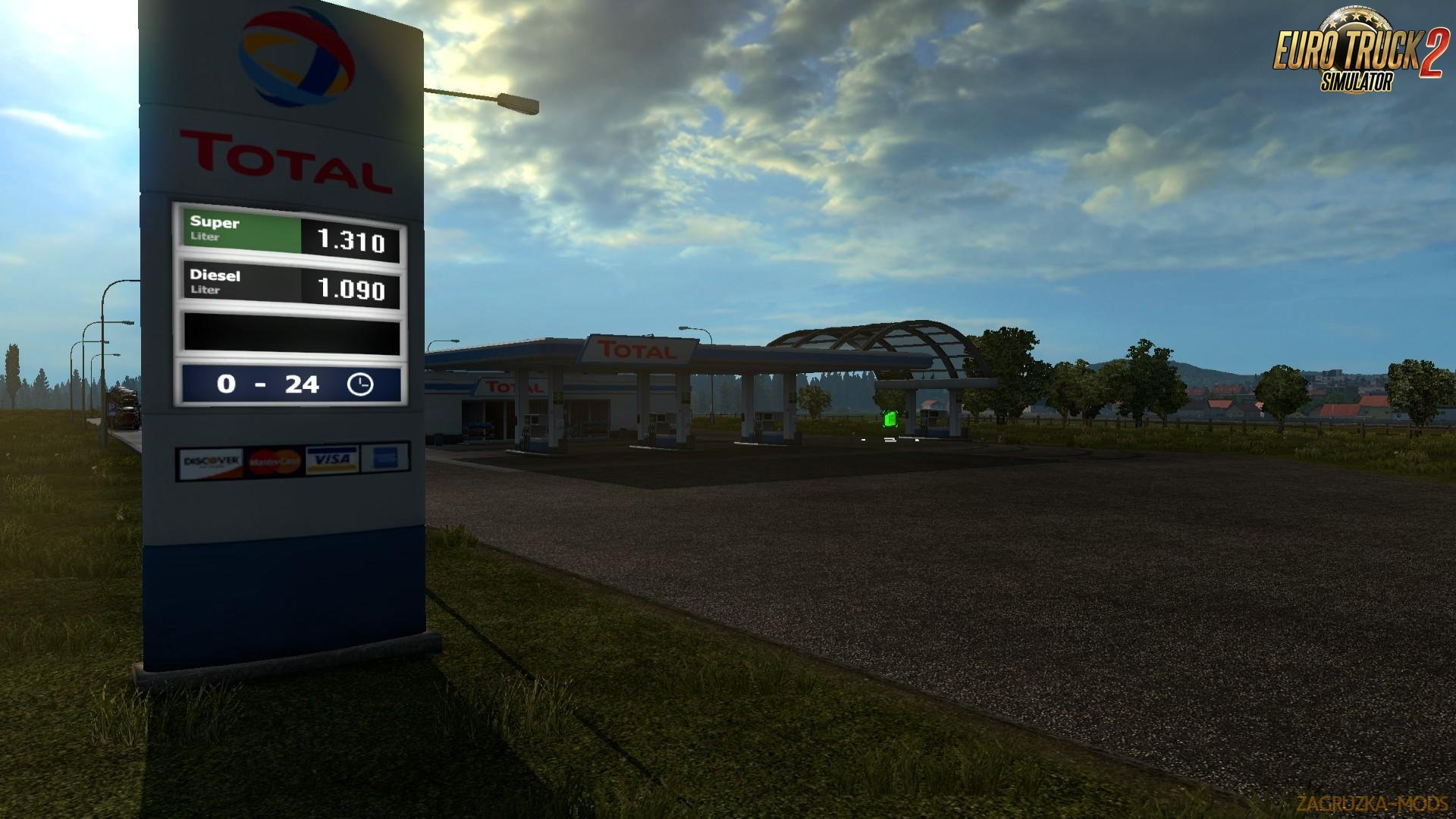 Realistic Big Fuel Stations for Ets2 (1.32.x)