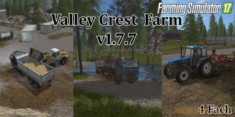Valley Crest Map 4x v1.7.7 for FS 17
