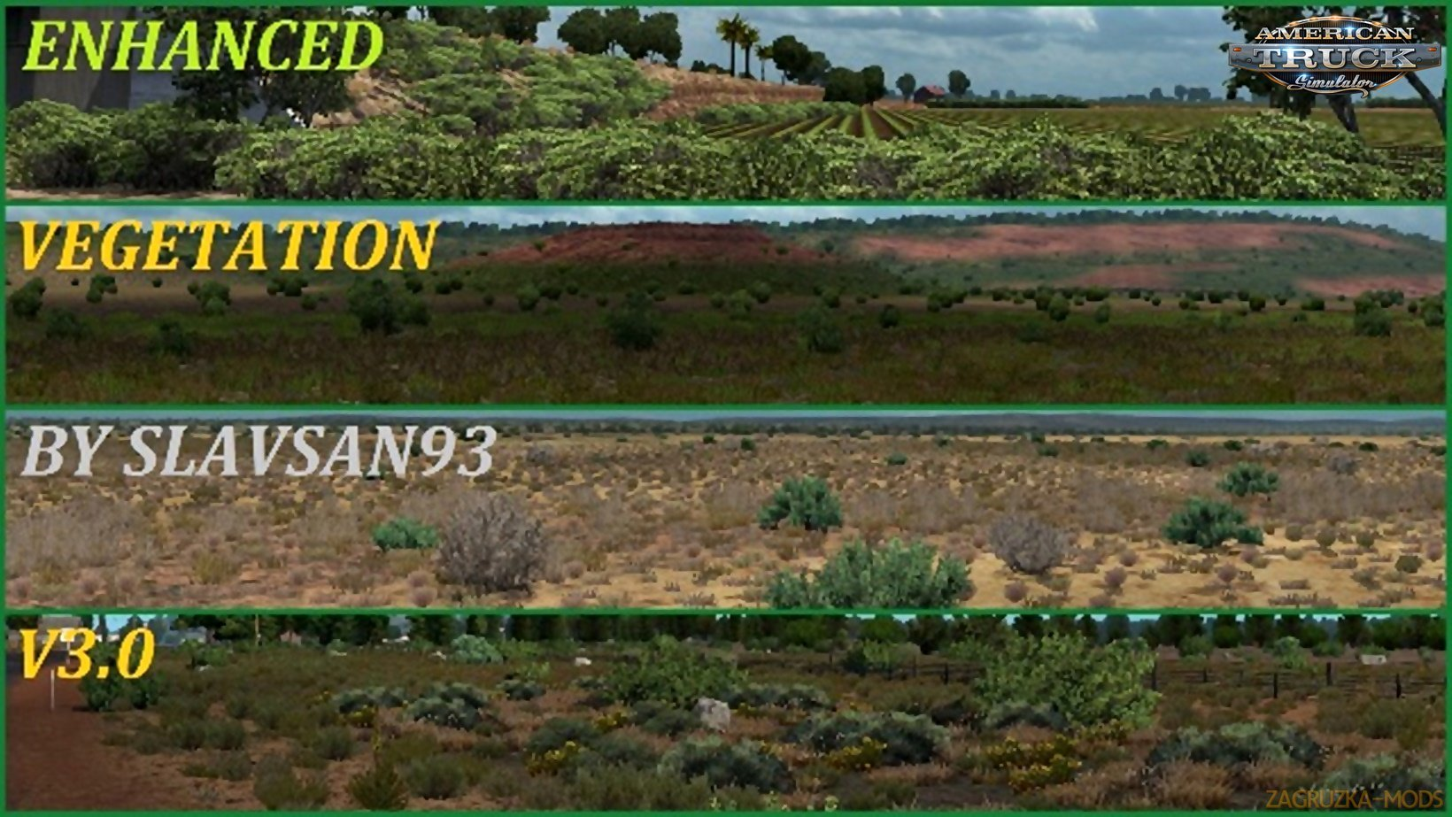 Enhanced Vegetation v3.2 by slavsan93 (v1.34.x) for ATS