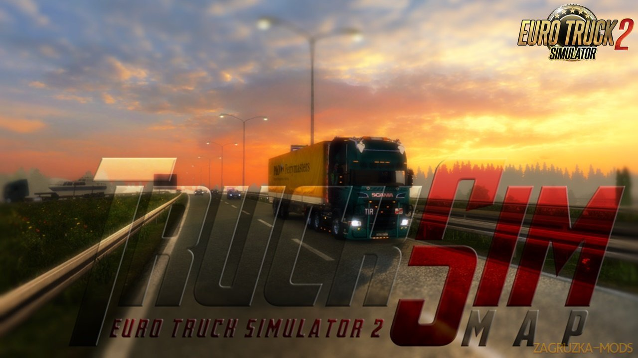 TruckSim - Map 1.32 for Ets2