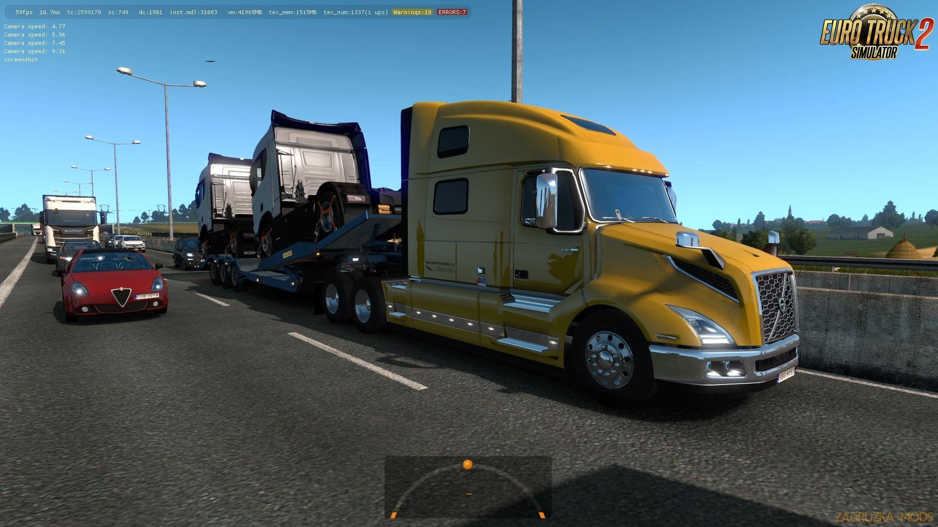 Volvo VNL 2018 in Traffic Ets2 [1.32.x]