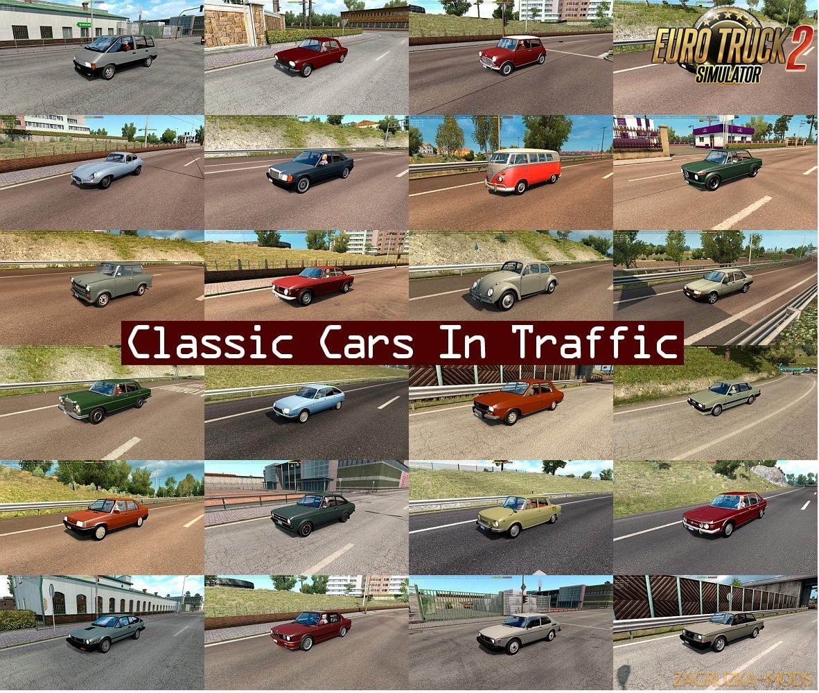 Classic Cars Traffic Pack v2.0 by TrafficManiac [1.32.x]
