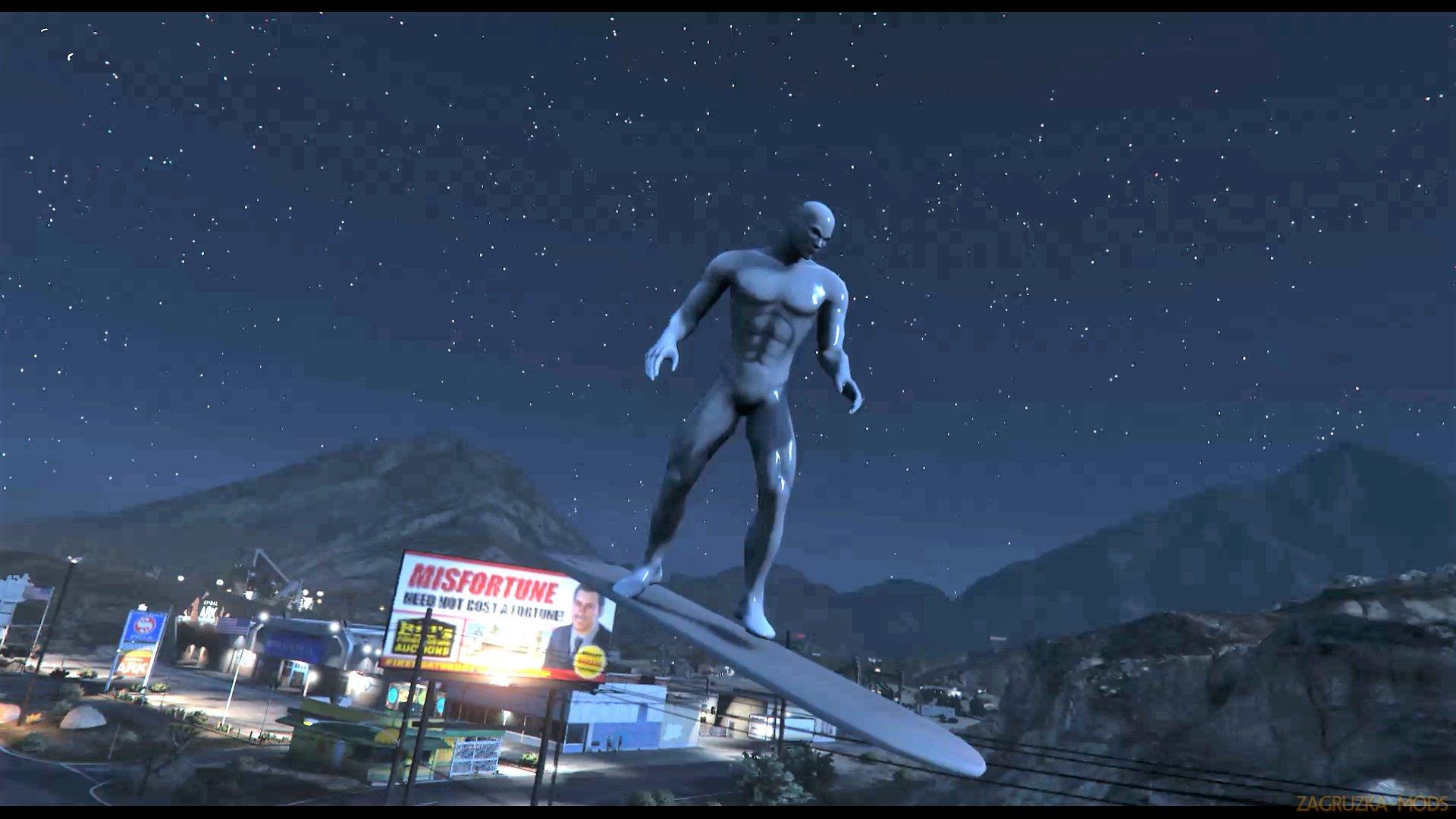 Silver Surfer Script Mod v1.5 for GTA 5