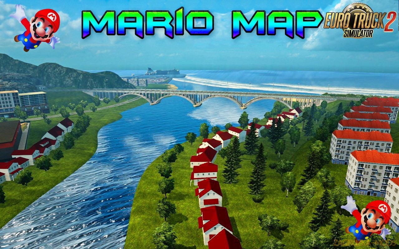 Mario Map v12.7 for Ets2-(Update for v1.33)