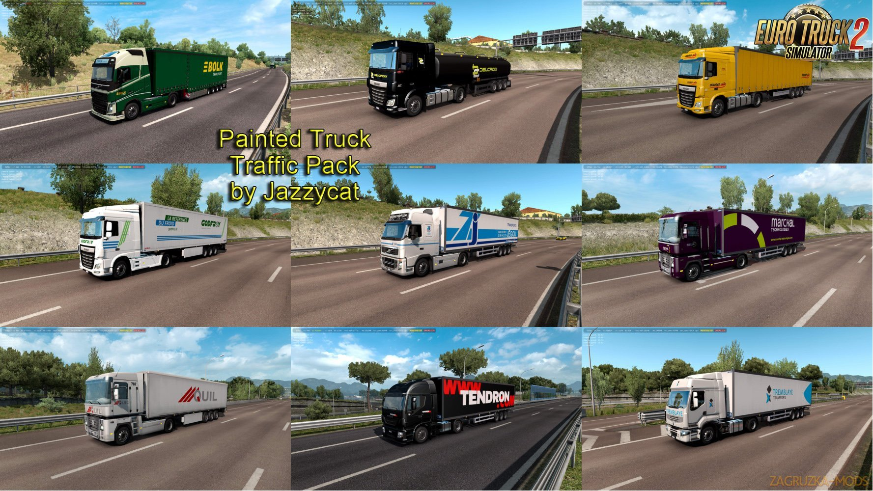 Painted Truck Traffic Pack v6.6 by Jazzycat