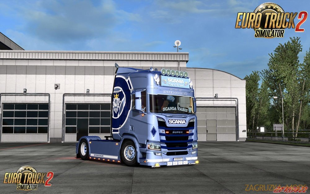 Scania S&R Light Blue Griffin Metallic v1.1