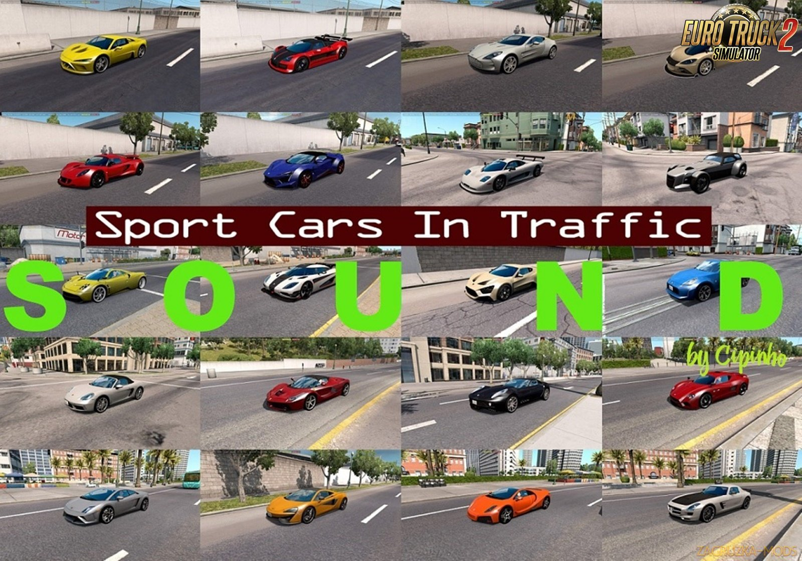 Sounds for Sport Cars Traffic Pack v2.3 by TrafficManiac