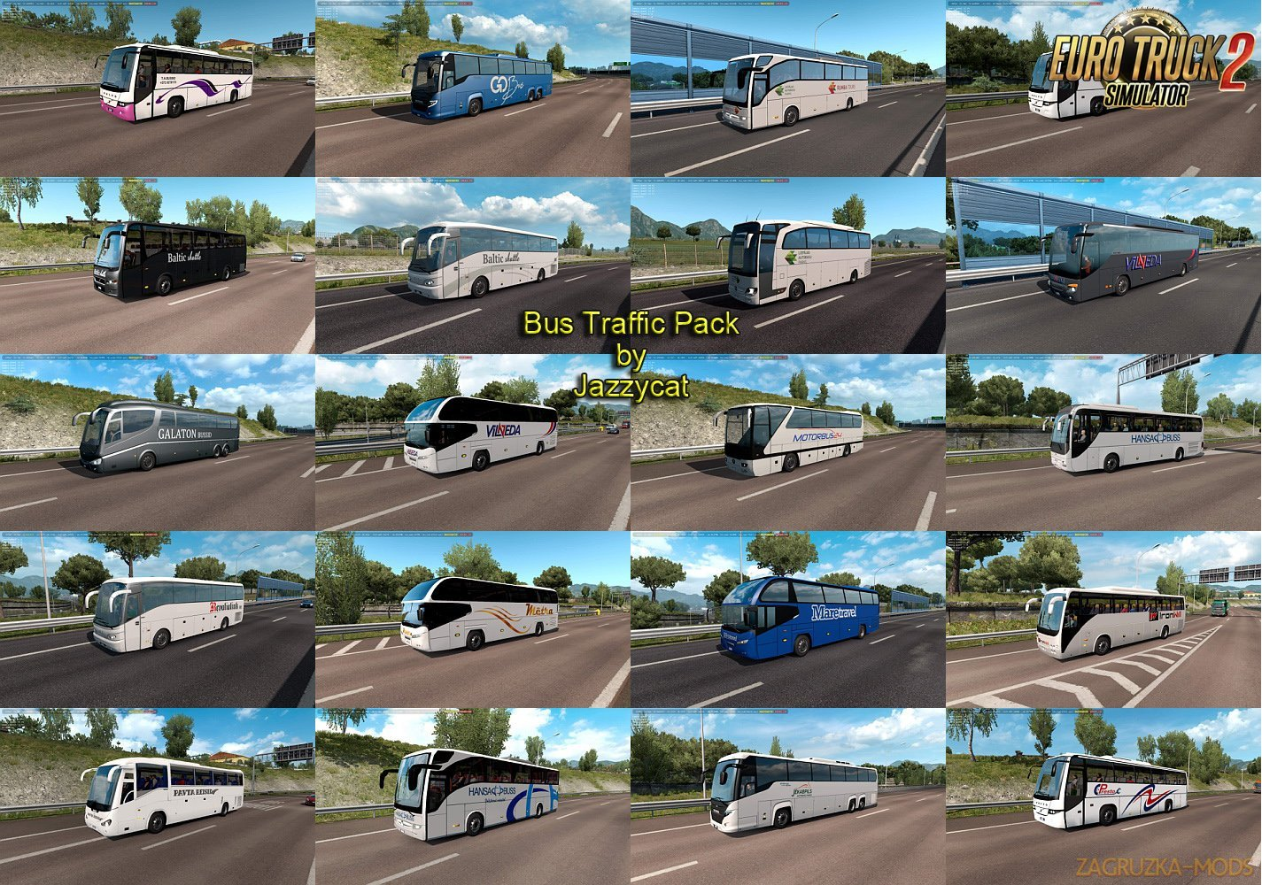 Bus Traffic Pack v5.7 by Jazzycat